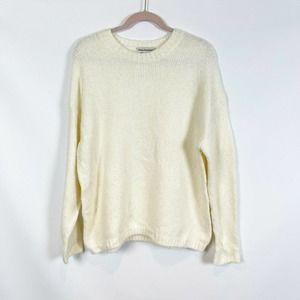 Cotton Emporium Easy Rib Trim Sweater Cream